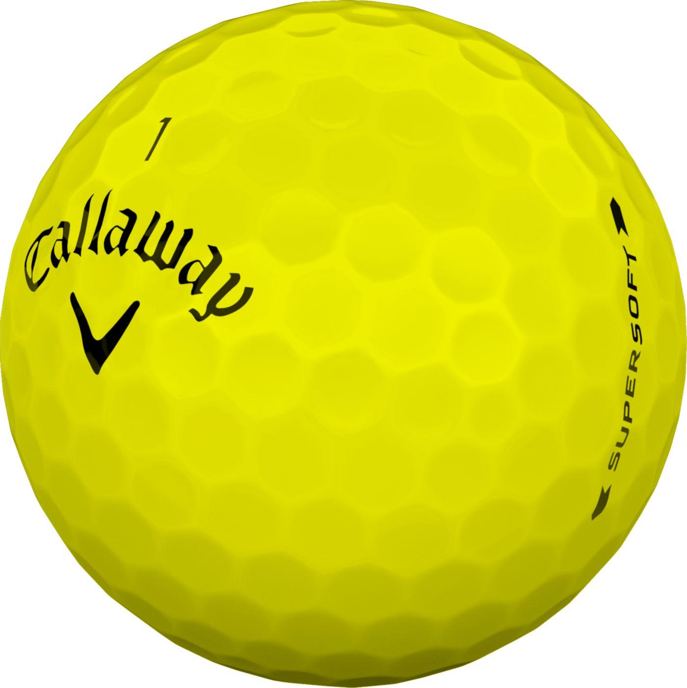 Callaway 2019 Supersoft Yellow Golf Balls