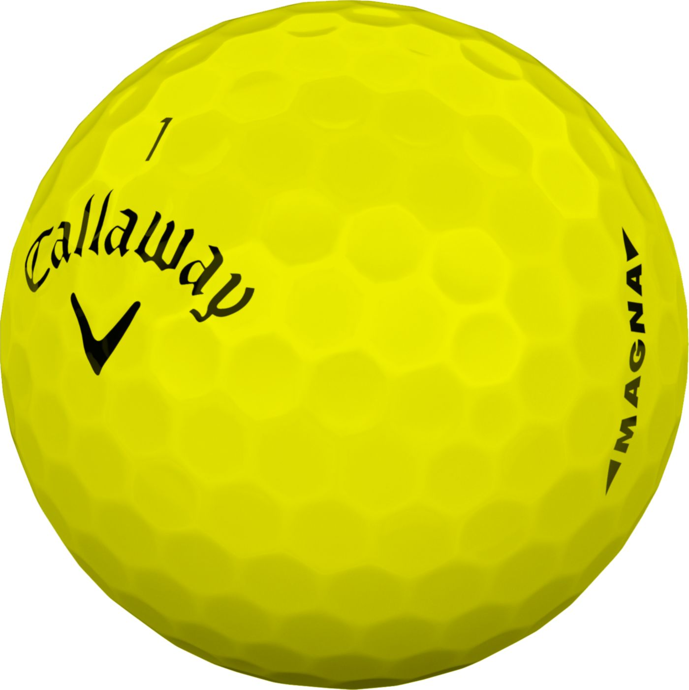 Callaway 2019 Supersoft Magna Yellow Golf Balls