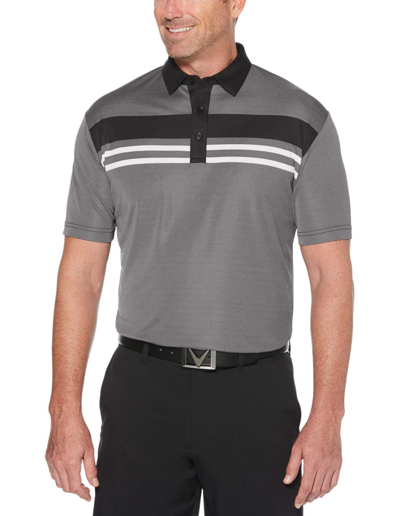 Callaway Men's Birdseye Block Golf Polo