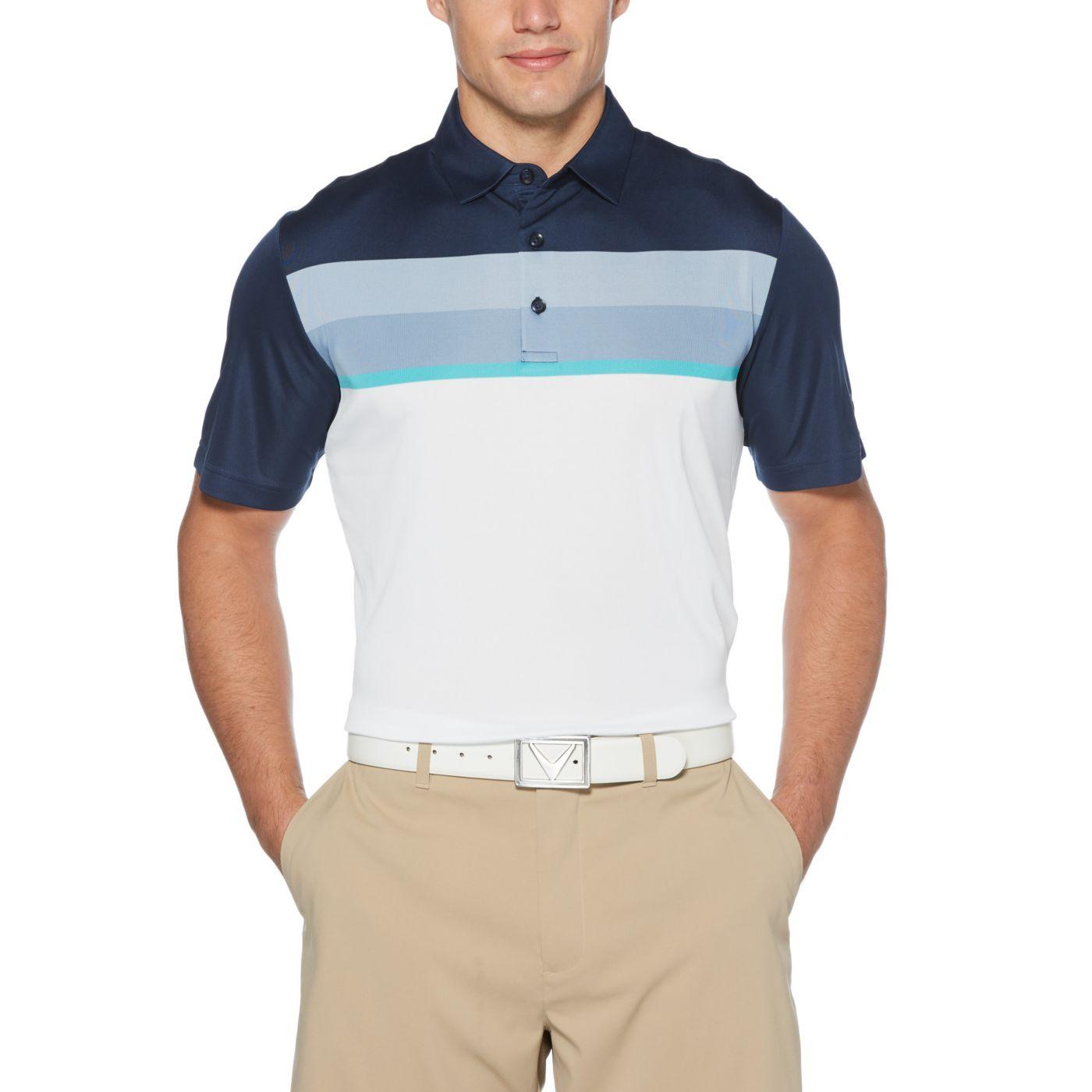 Callaway Men's Birdseye Color Blocked Golf Polo