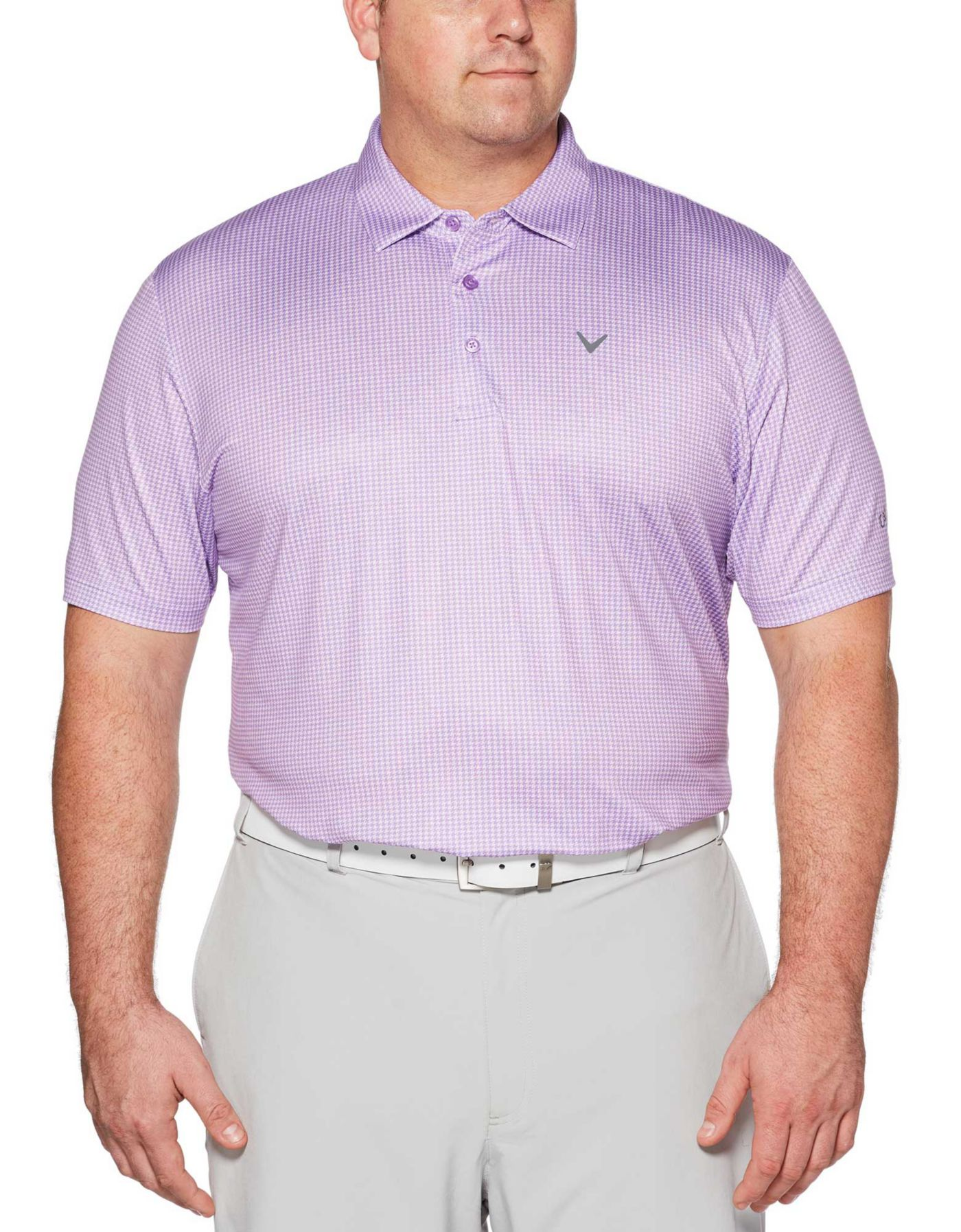 Callaway Men's Houndstooth Printed Golf Polo - Big & Tall