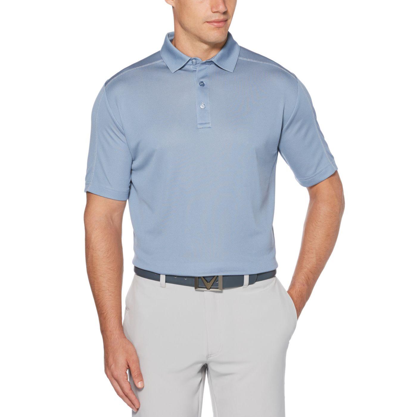 Callaway Men's Refined Jacquard Golf Polo - Big & Tall