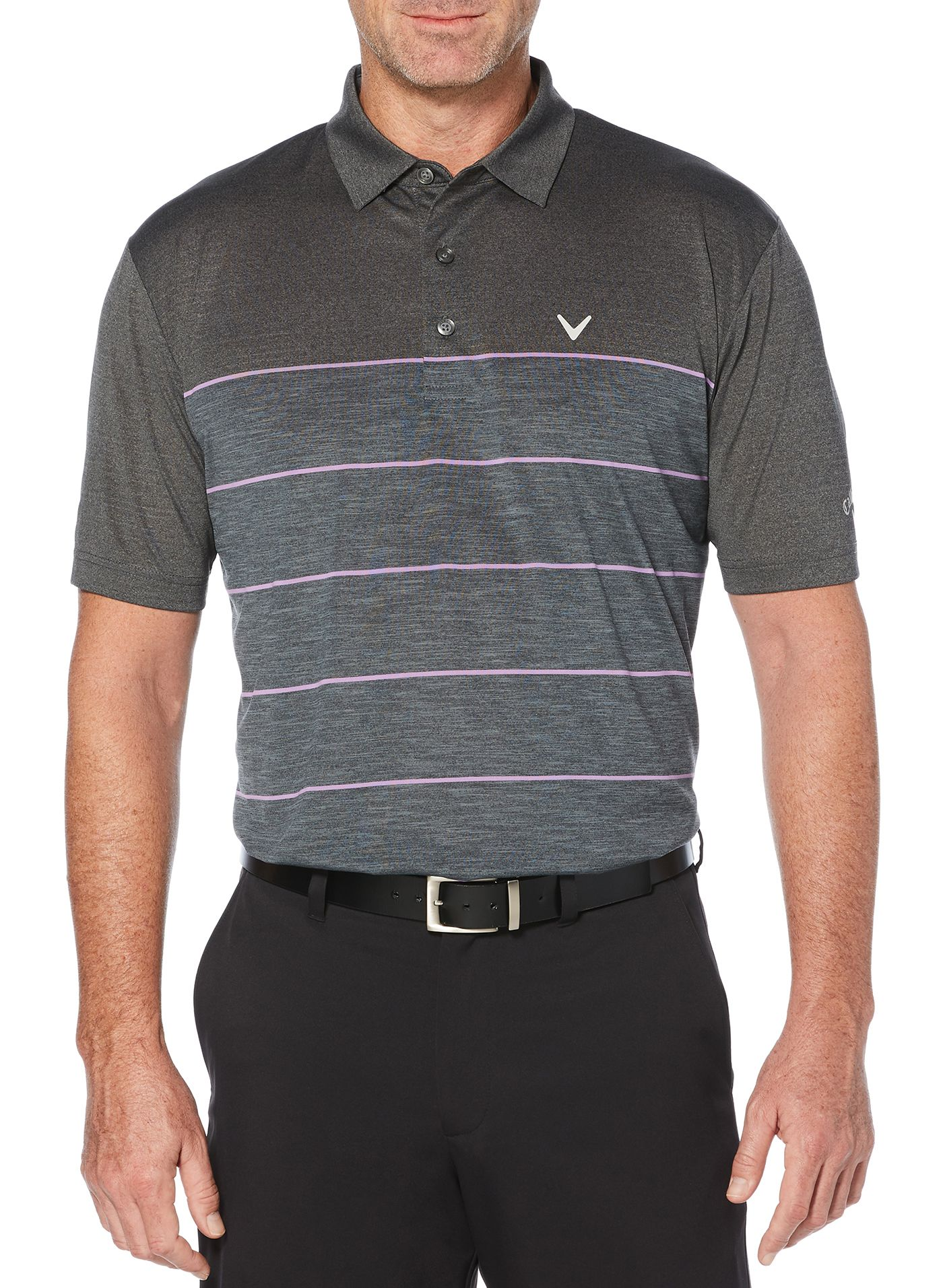 Callaway Men's Heather Stripe Golf Polo – Big & Tall