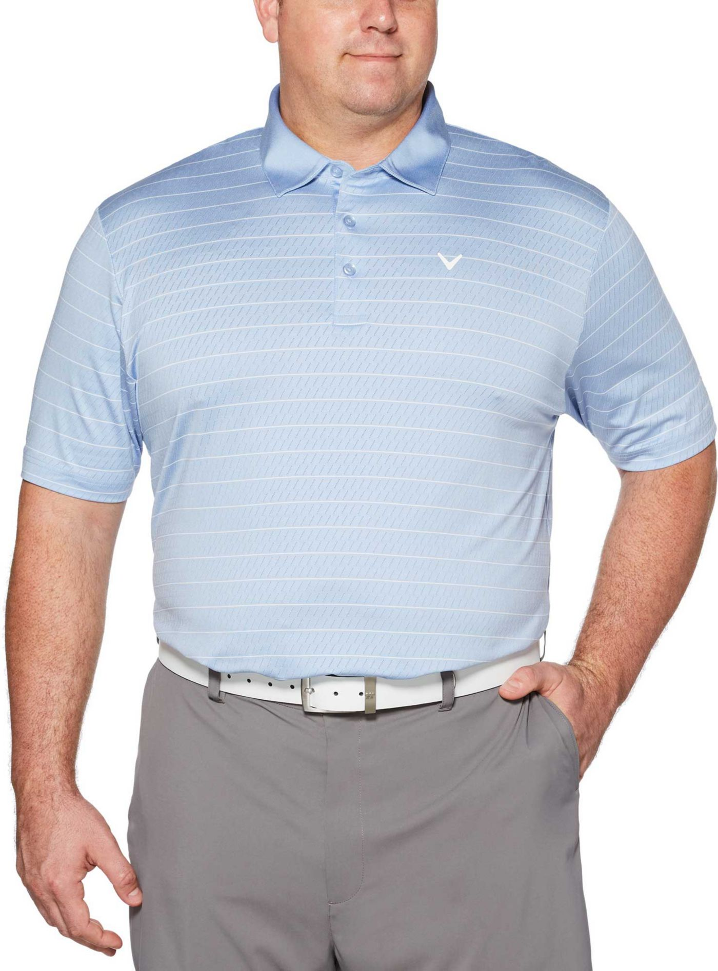 Callaway Men's Ventilated Stripe Golf Polo - Big & Tall