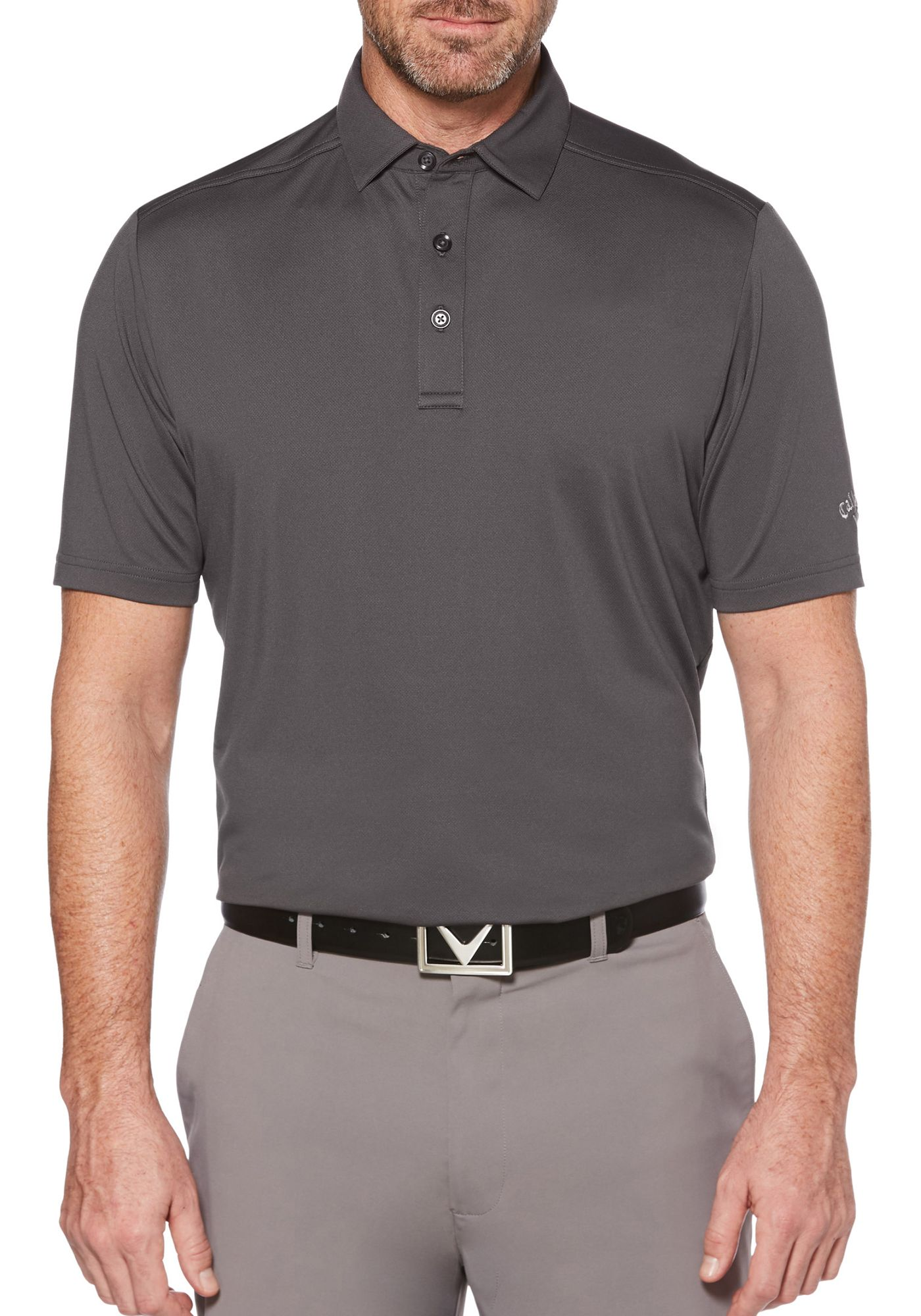 Callaway Men's Cooling Micro Hex Golf Polo