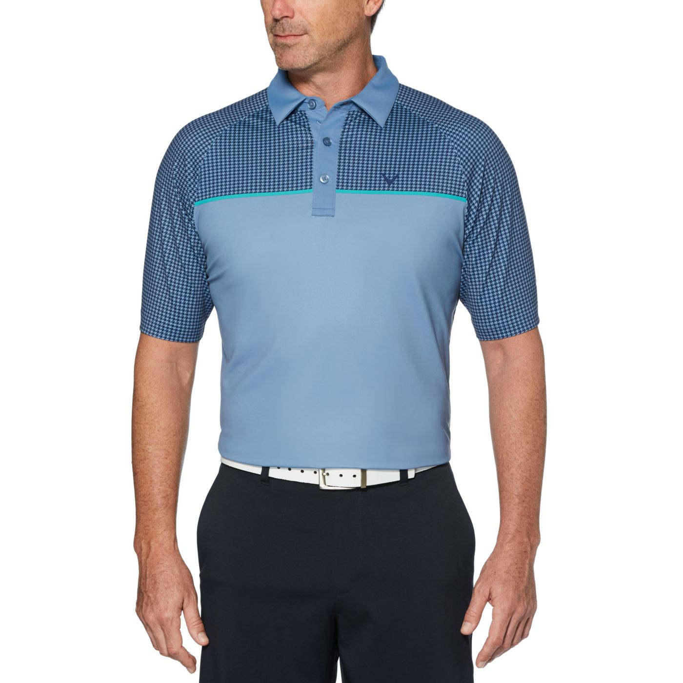 Callaway Men's Houndstooth Print Golf Polo