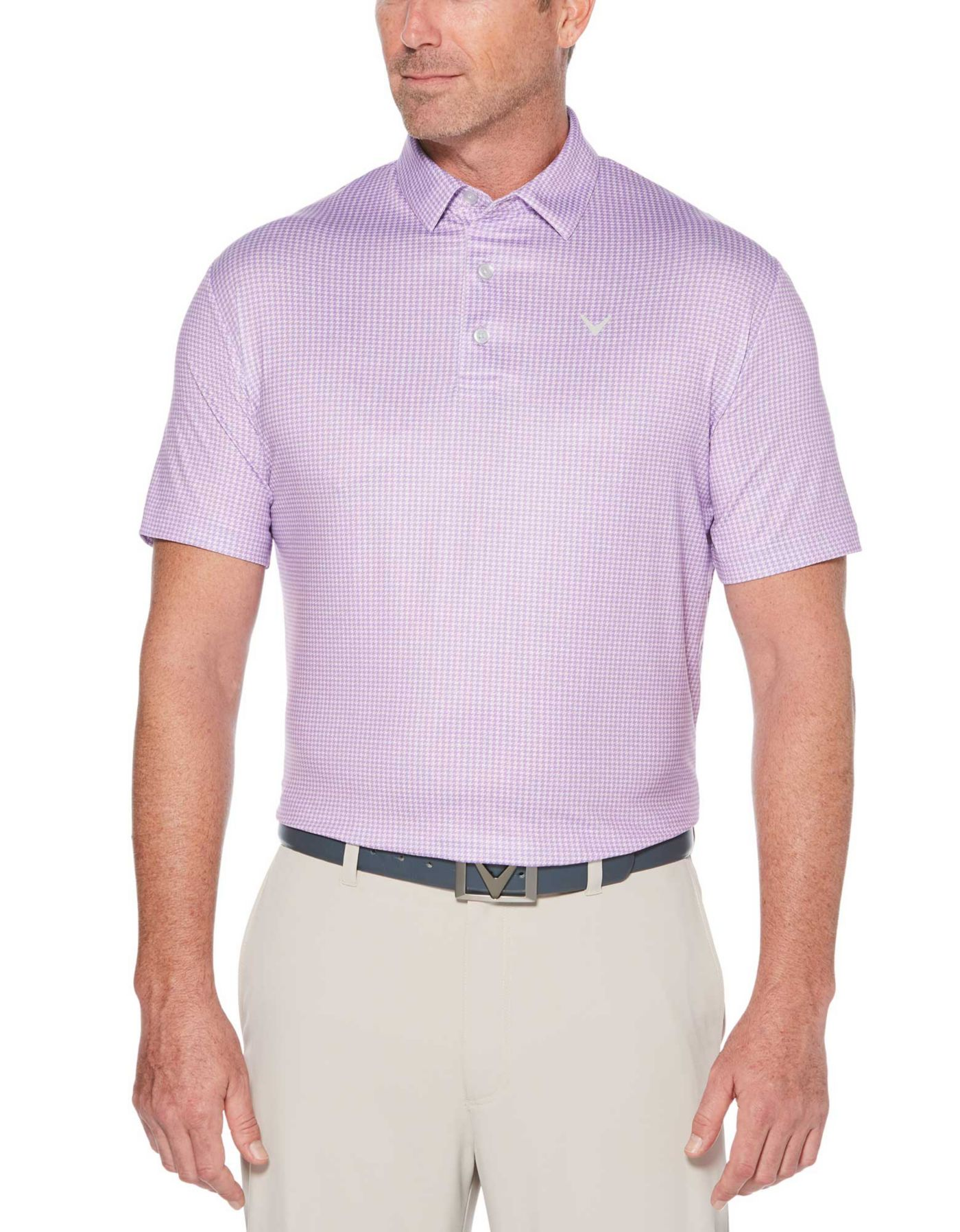 Callaway Men's Houndstooth Printed Golf Polo