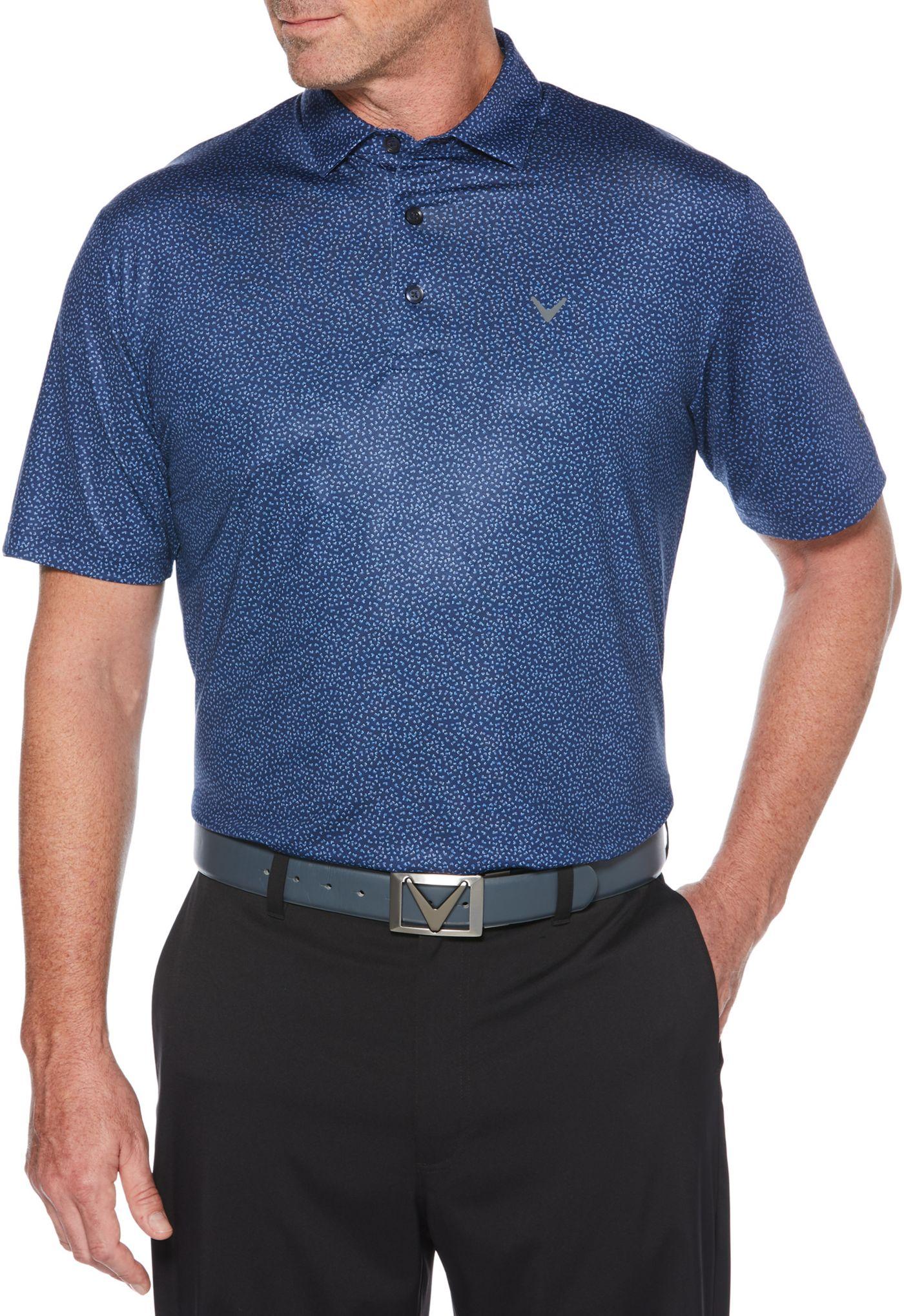 Callaway Men's Mini-Chev Print Golf Polo