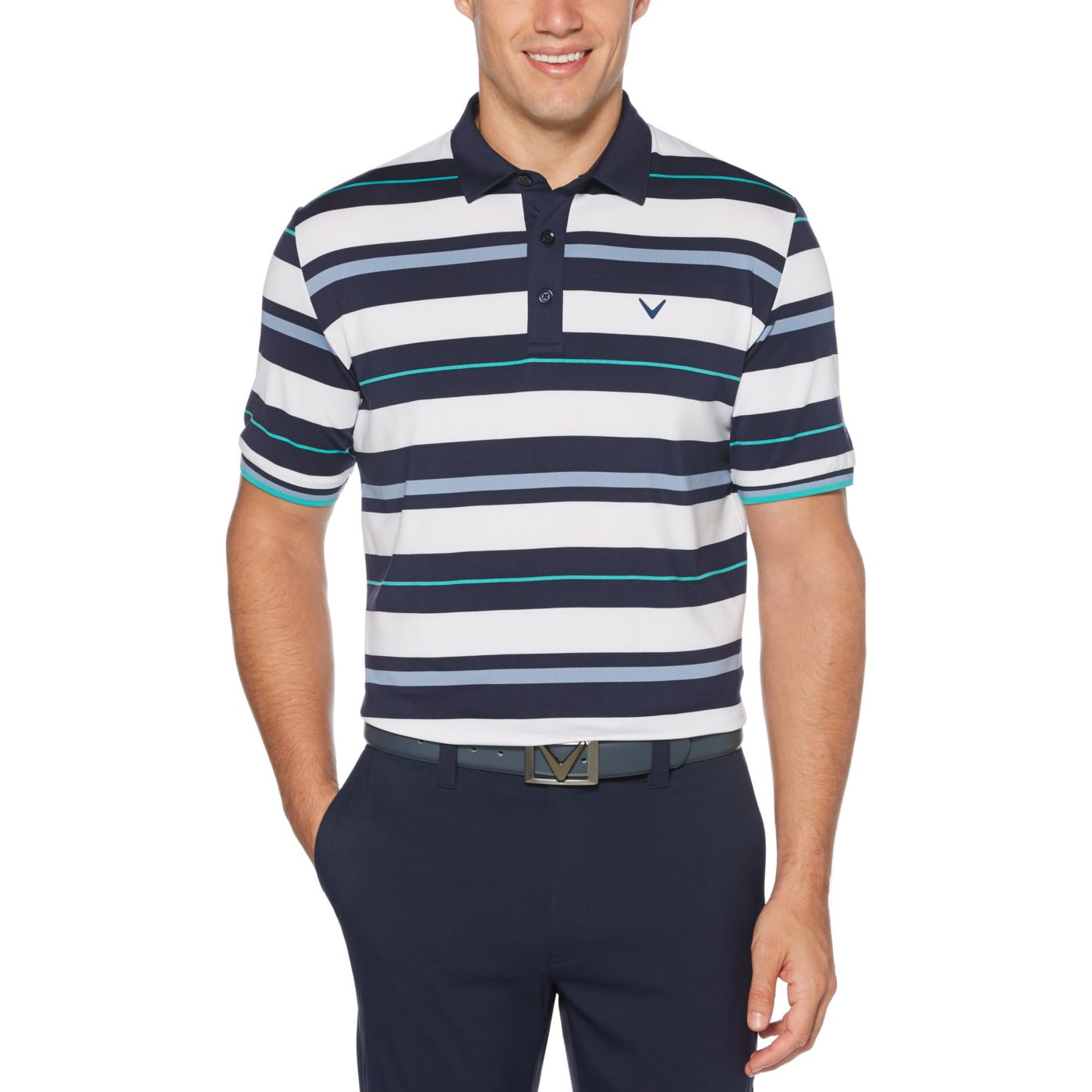 Callaway Men's Roadmap Striped Golf Polo