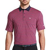 Callaway Men's Refined 3 Color Stripe Golf Polo