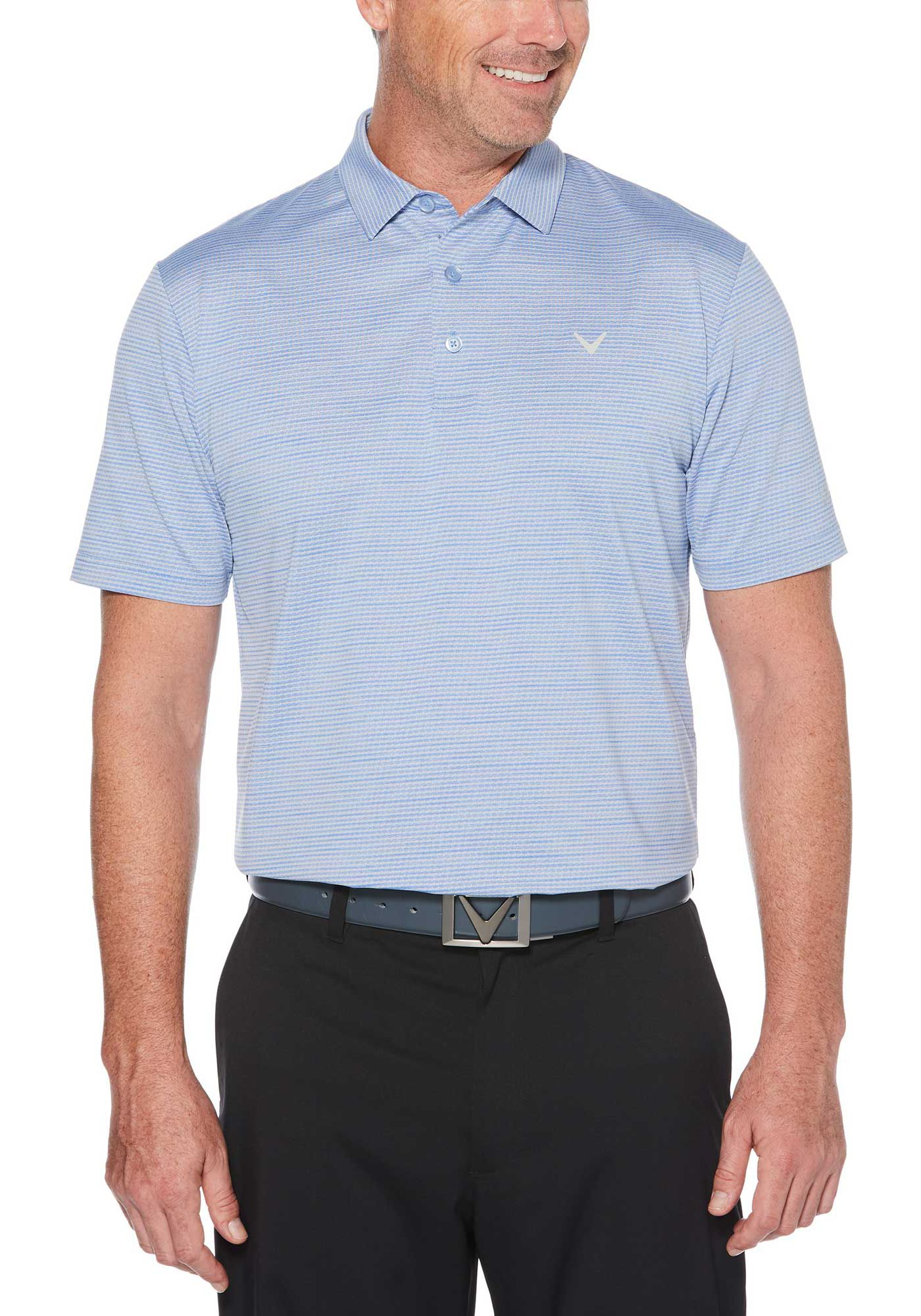 Callaway Men's Space Dye Jacquard Golf Polo