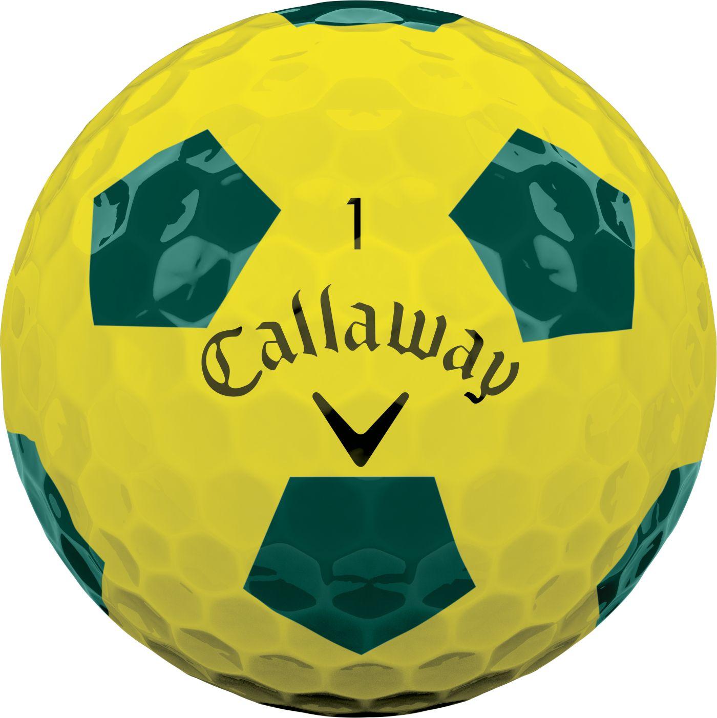 Callaway 2018 Chrome Soft Truvis Yellow Golf Balls – Sports Matter Special Edition