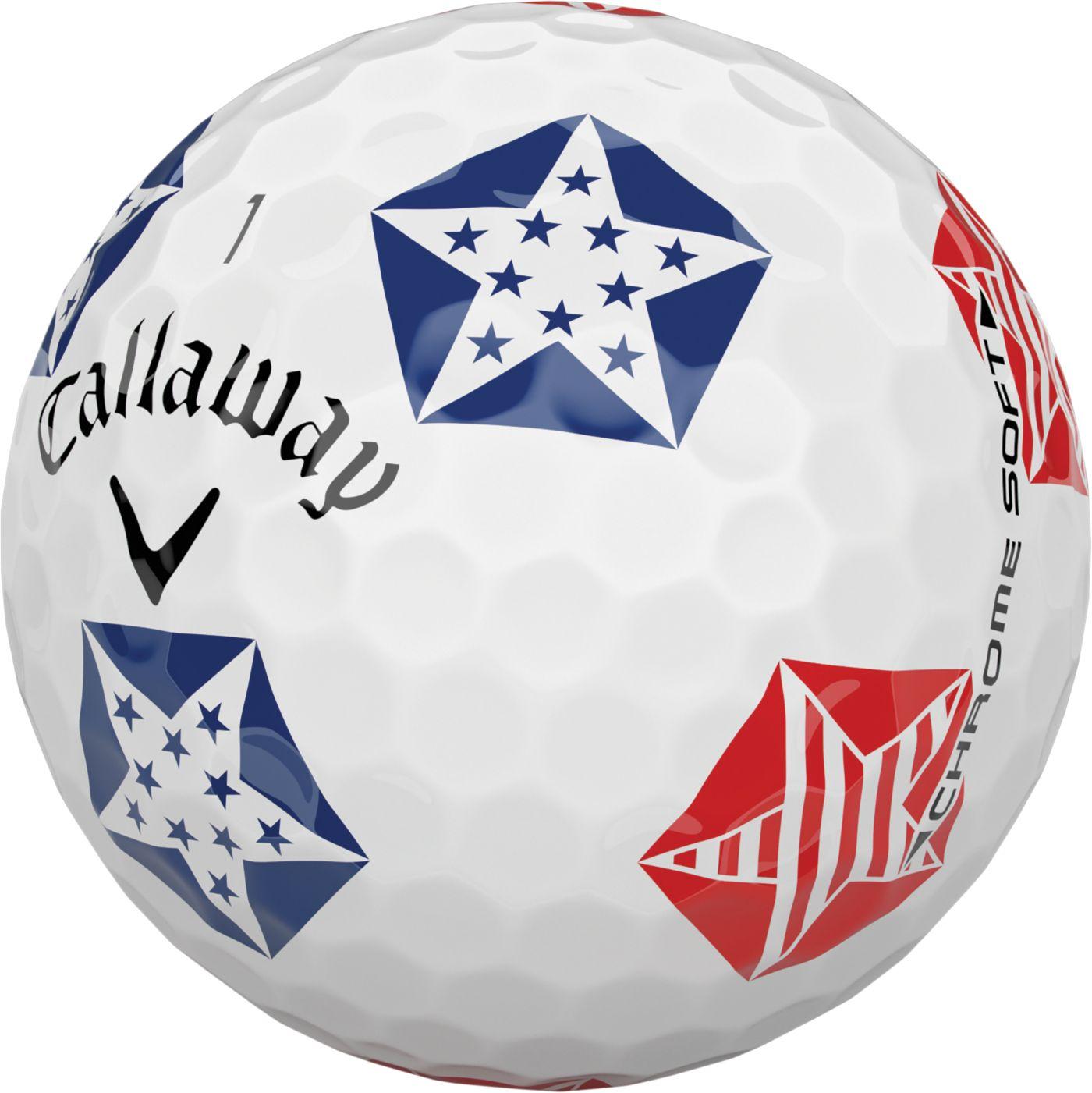 Callaway 2019 Chrome Soft Truvis Stars and Stripes Golf Balls