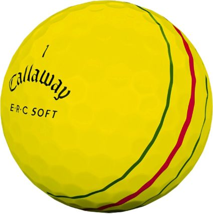 Callaway ERC Soft Yellow Personalized Golf Balls