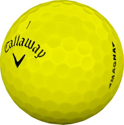 Callaway 2019 Supersoft Magna Yellow Personalized Golf Balls