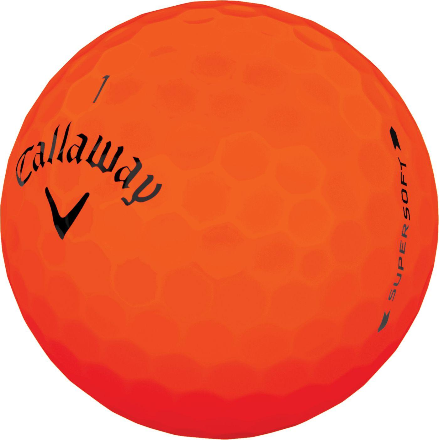 Callaway 2019 Supersoft Matte Orange Personalized Golf Balls