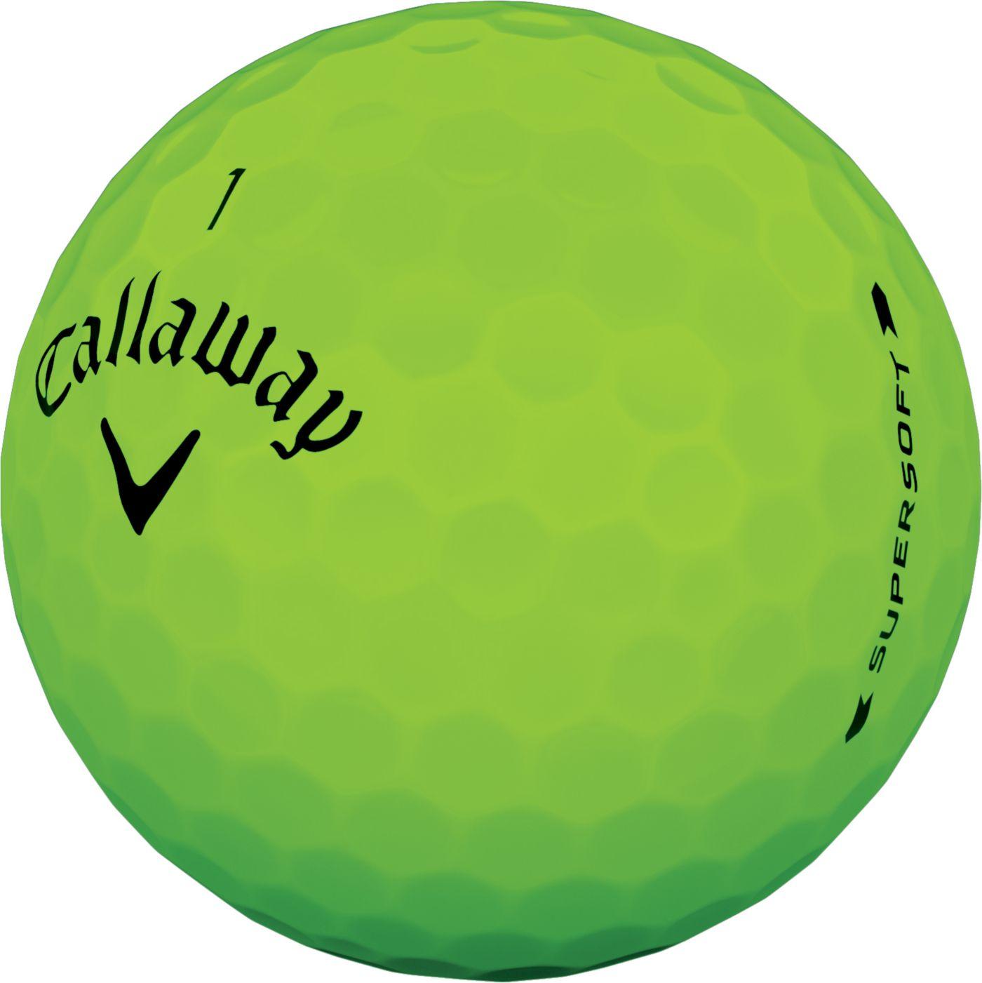 Callaway 2019 Supersoft Matte Green Personalized Golf Balls