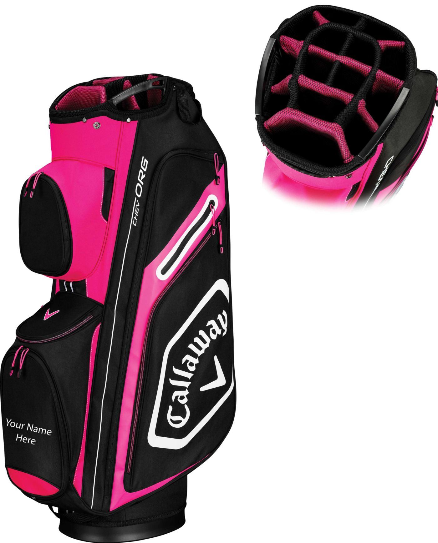 Callaway Women's 2019 Chev Org Personalized Cart Golf Bag