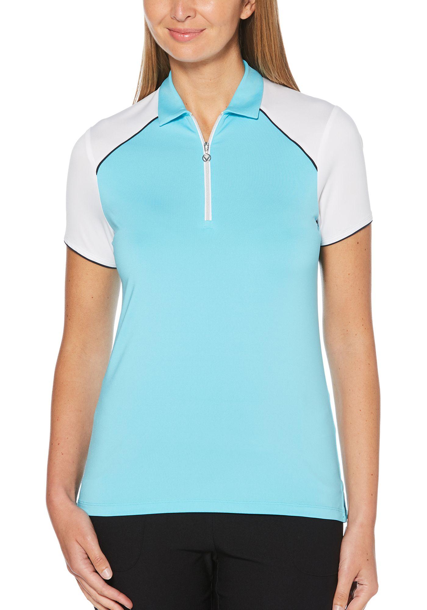 Callaway Women's 1/4 Zip Color Block Golf Polo