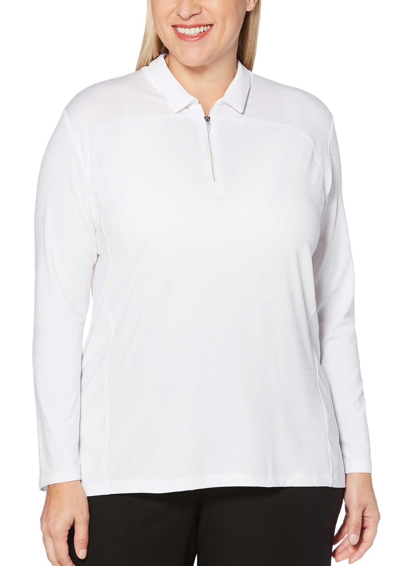 Callaway Women's ¼-Zip Long Sleeve Golf Polo - Extended Sizes