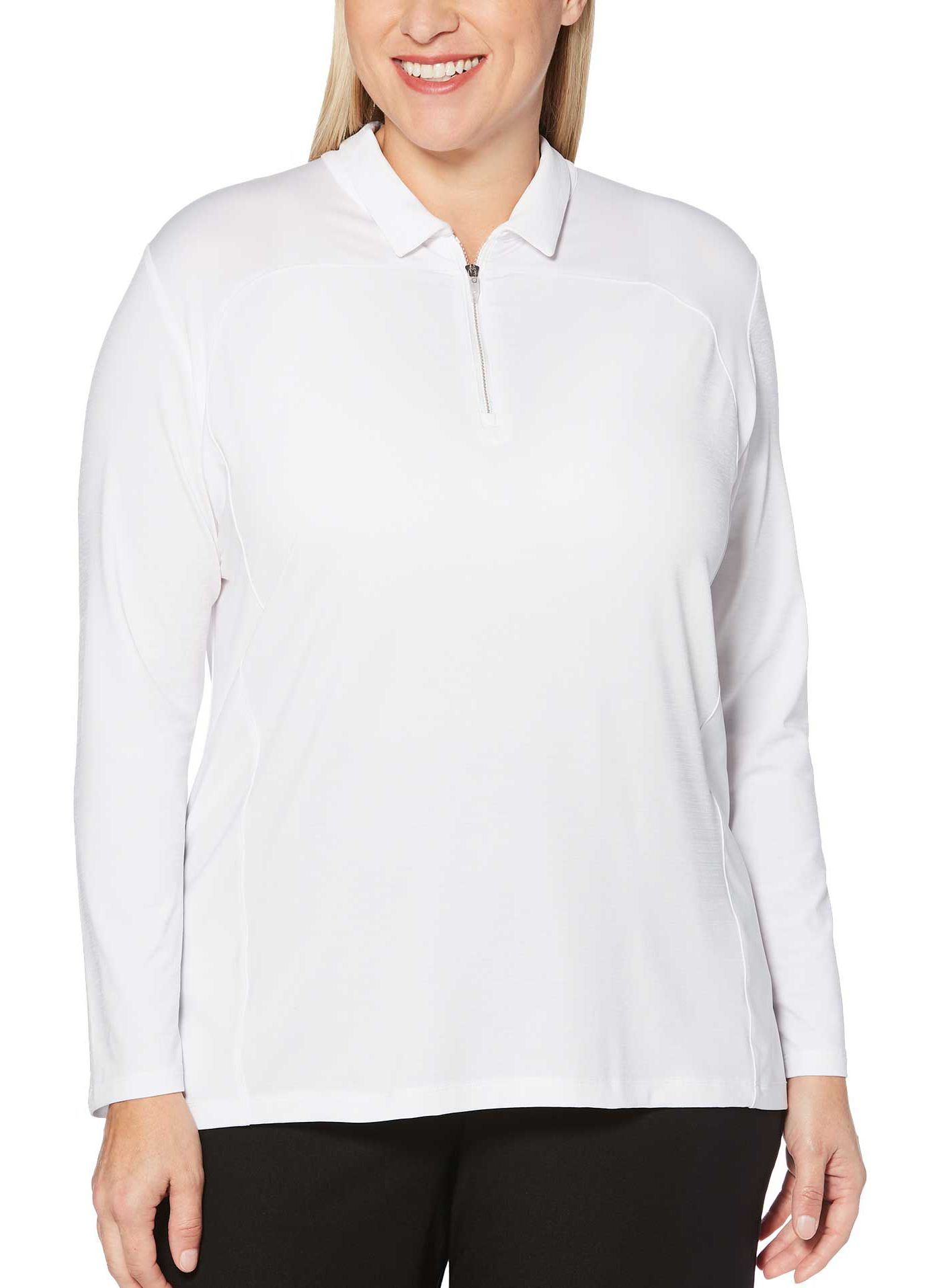 Callaway Women's ¼-Zip Long Sleeve Golf Polo - Extended Sizes