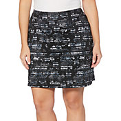 "Callaway Women's 18"" Stained Glass Floral Golf Skort - Extended Sizes"