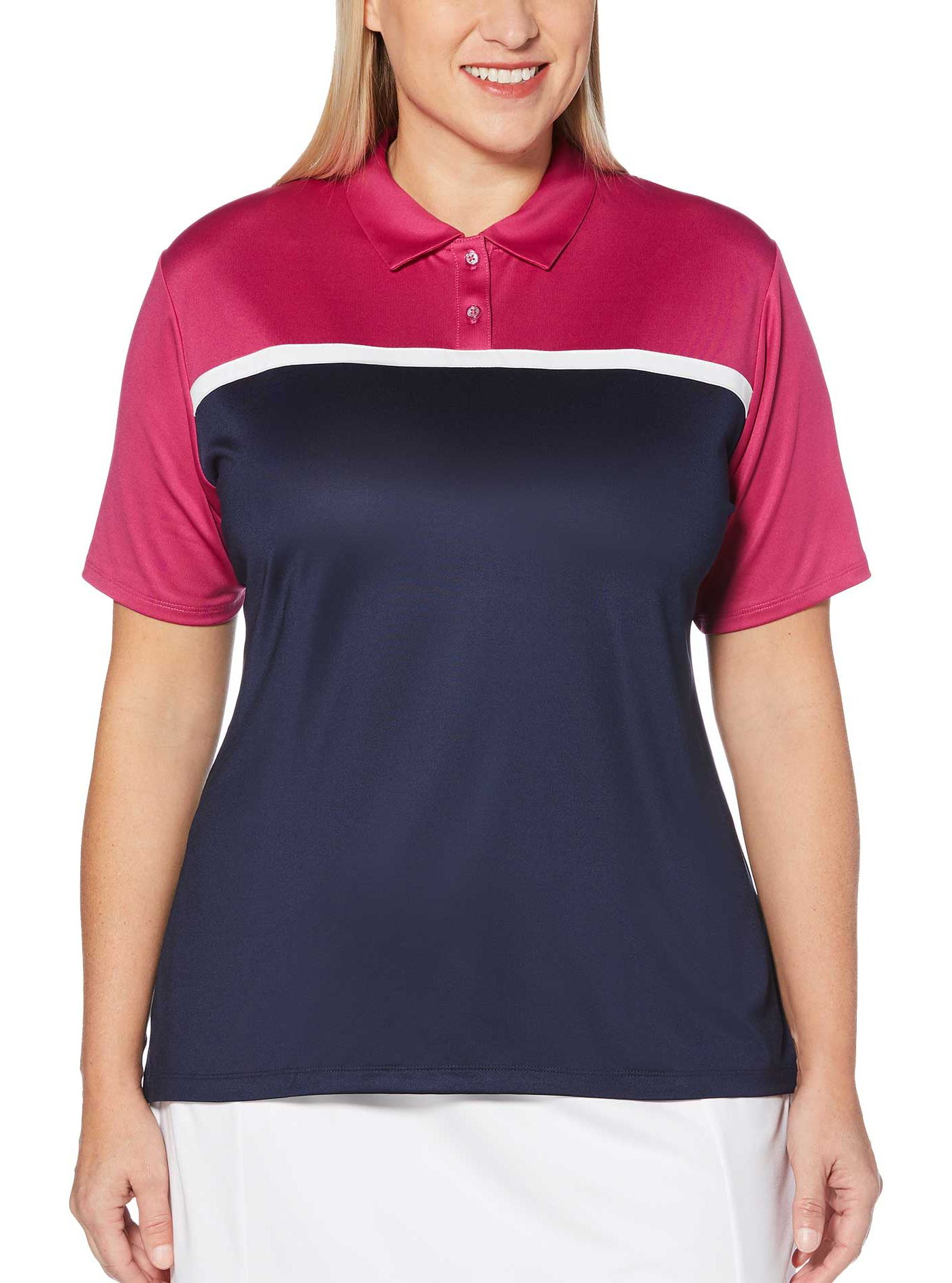 Callaway Women's Color Block Golf Polo - Extended Sizes