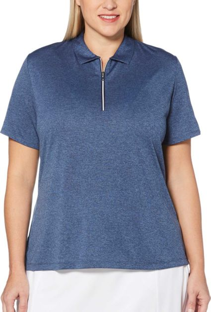 Callaway Women's Heathered ¼-Zip Golf Polo - Extended Sizes