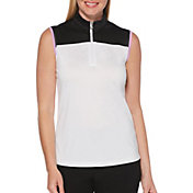 Callaway Women's Color Block Sleeveless Golf Polo