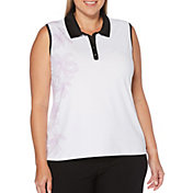 Callaway Women's Floral Print Sleeveless Golf Polo – Extended Sizes