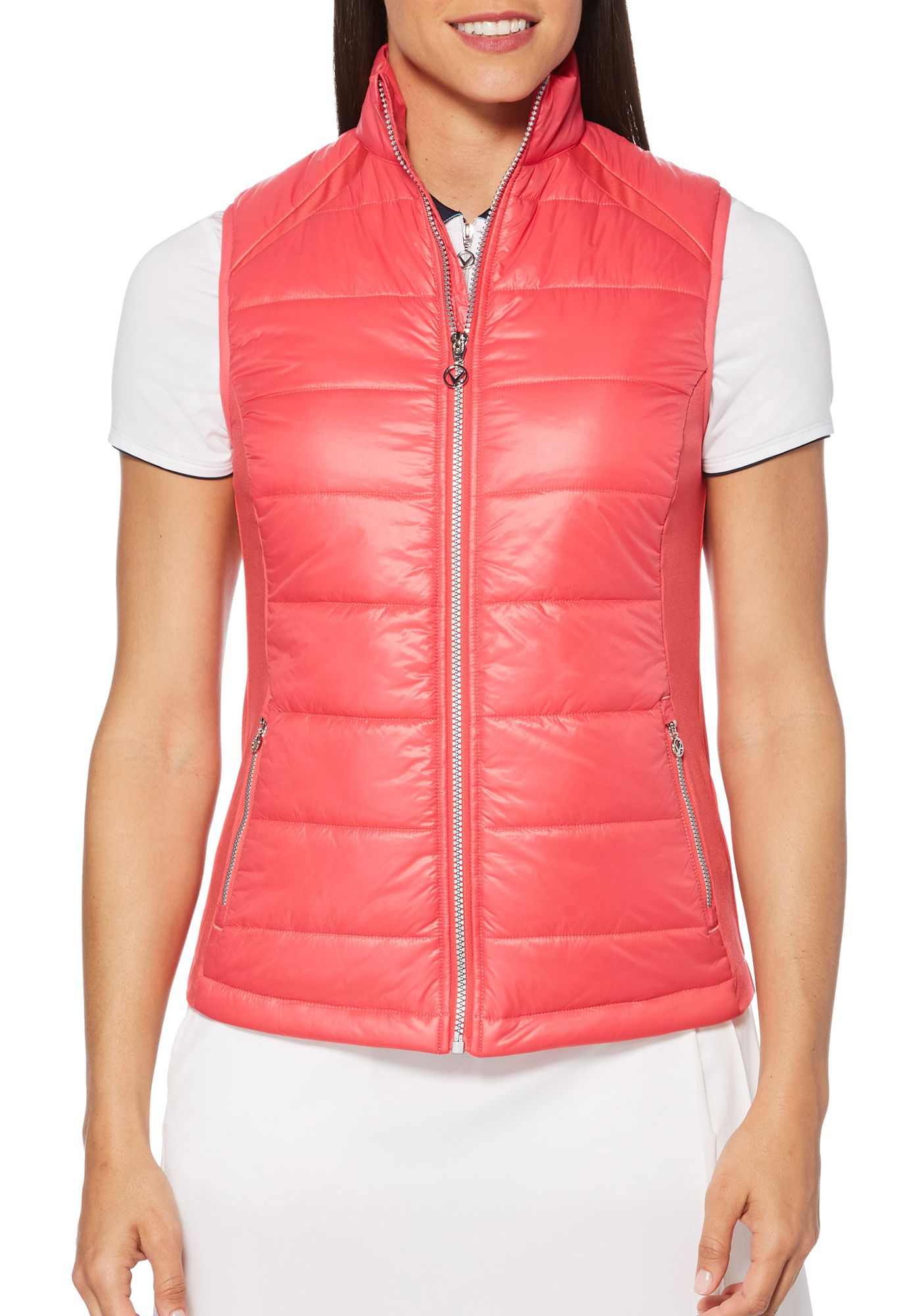 Callaway Women's Mixed Media Puffer Golf Vest