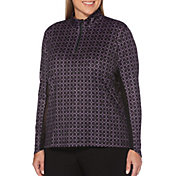 Callaway Women's Sun Protection Allover Print Golf Pullover – Extended Sizes