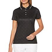 Callaway Women's Chevron Polka Dot Short Sleeve Golf Polo