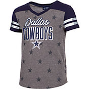 Dallas Cowboys Merchandising Girls' Stars Grey T-Shirt