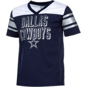 Dallas Cowboys Merchandising Girls' Glitter Mesh Navy Jersey