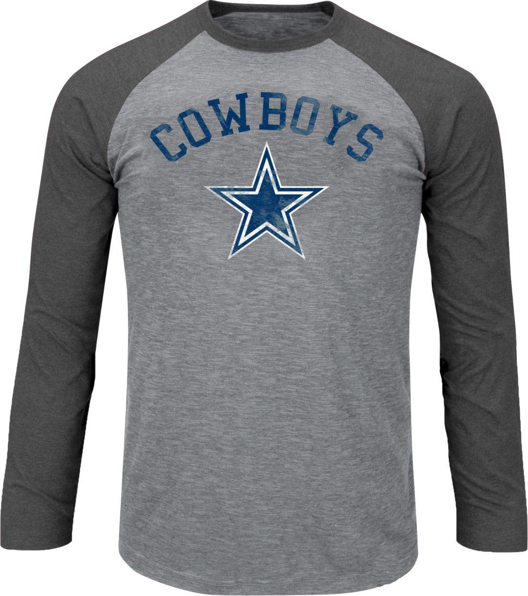 finest selection 69f6d 935c8 Dallas Cowboys Merchandising Men's Grey Long Sleeve Raglan Shirt