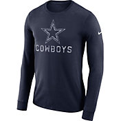 Nike Men's Dallas Cowboys Seismic Logo Navy Long Sleeve Shirt
