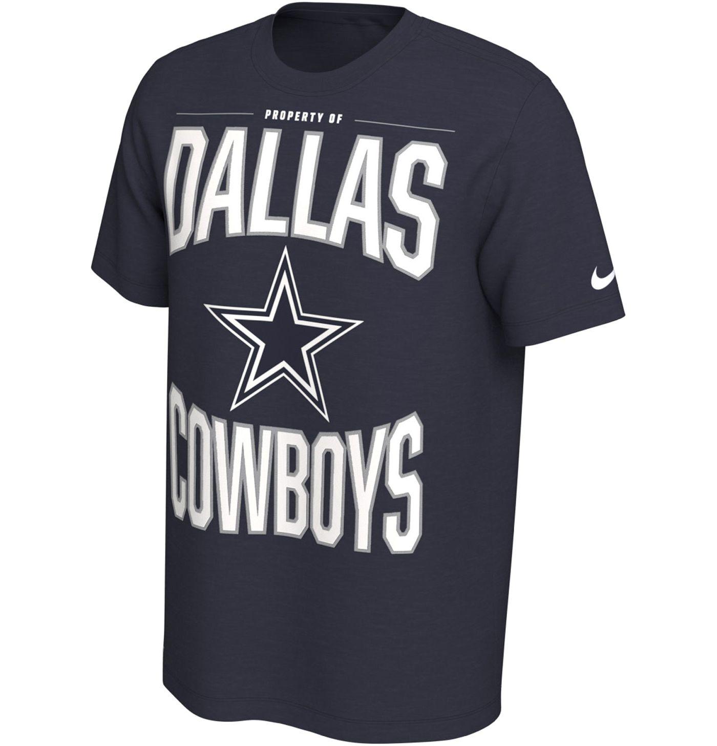 Nike Men's Dallas Cowboys Sideline Property Of Navy T-Shirt