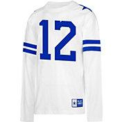 Dallas Cowboys Merchandising Men's Roger Staubach #12 Retro Long Sleeve White Shirt