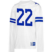 Dallas Cowboys Merchandising Men's Emmitt Smith #22 Retro Long Sleeve White Shirt