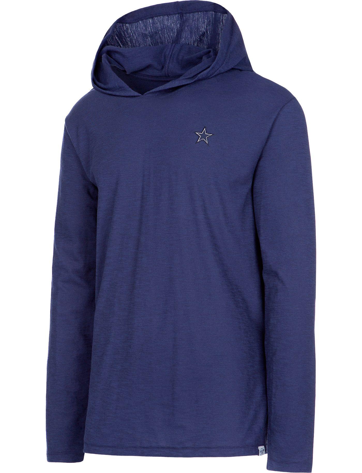 Dallas Cowboys Merchandising Men's Waylon Navy Hooded Long Sleeve Shirt