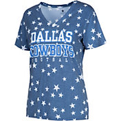 Dallas Cowboys Merchandising Women's Allover Star Navy T-Shirt