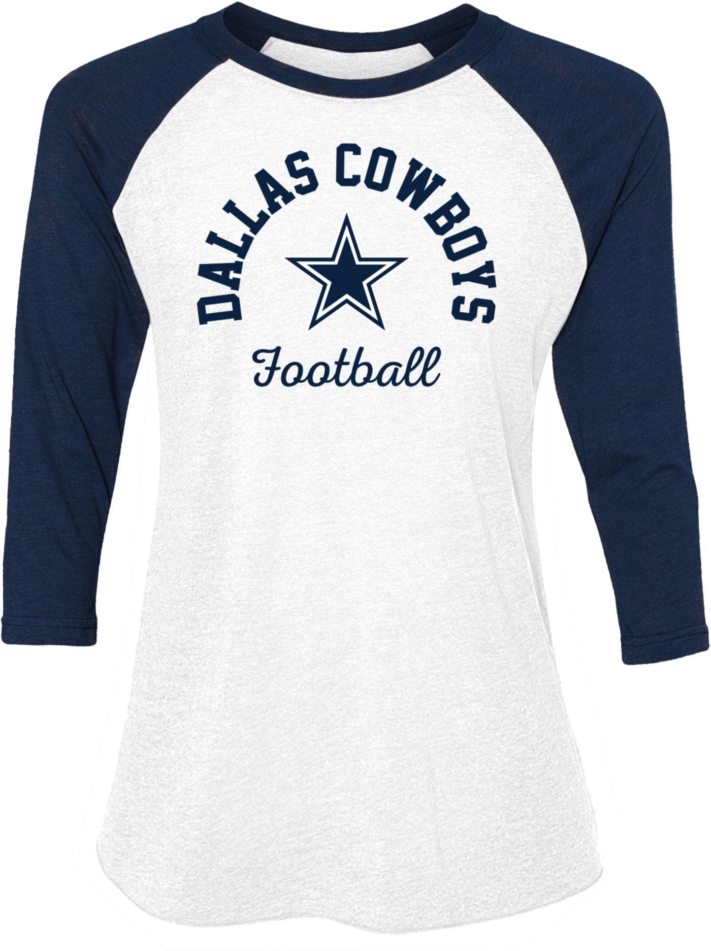 Dallas Cowboys Merchandising Women's Lorena White Raglan Shirt