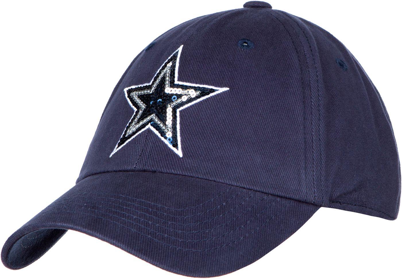 Dallas Cowboys Merchandising Women's Shimmer Navy Adjustable Hat