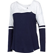 Dallas Cowboys Merchandising Women's Tally Color Block Long Sleeve Shirt