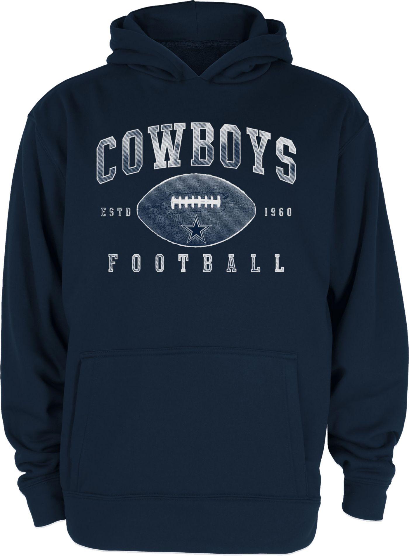 Dallas Cowboys Merchandising Youth Robbie Football Navy Hoodie