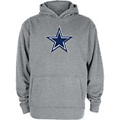 Dallas Cowboys Merchandising Youth Braum Logo Grey Pullover Hoodie