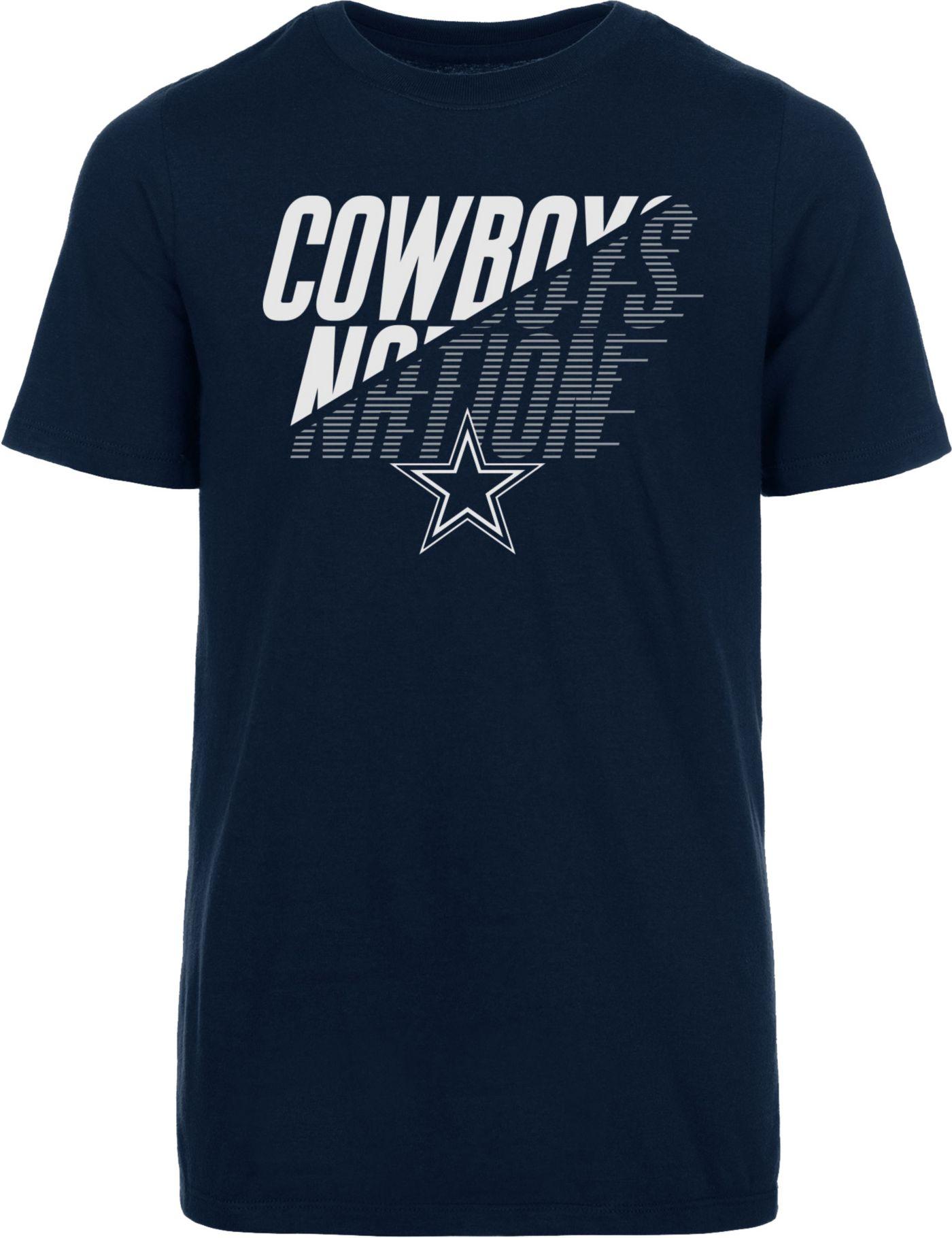 Dallas Cowboys Merchandising Youth Keegan Metallic Navy T-Shirt