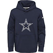 Nike Youth Dallas Cowboys Circuit Logo Navy Pullover Hoodie