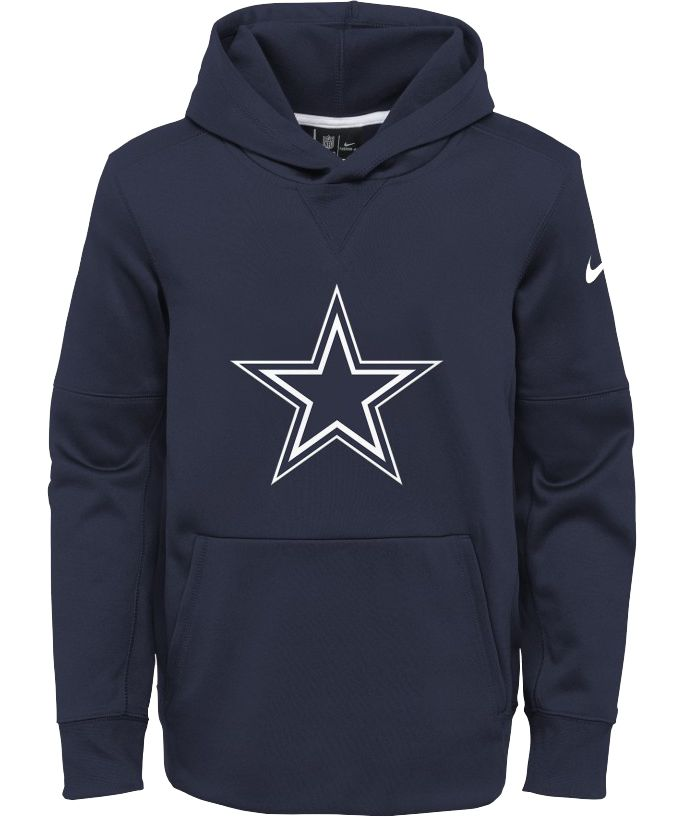 Nike Youth Dallas Cowboys Circuit Logo Navy Pullover Hoodie